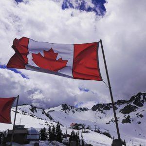 Canadian Flag at Whistler